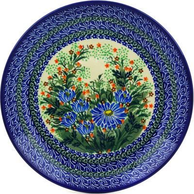 Polish Pottery 10-inch Plate   Boleslawiec Stoneware   Polmedia H0614E
