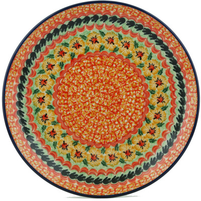 Polish Pottery 10-inch Plate | Boleslawiec Stoneware | Polmedia H1182I