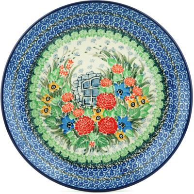 Polish Pottery 10-inch Plate   Boleslawiec Stoneware   Polmedia H1392I