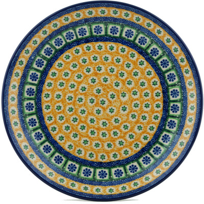 Polish Pottery 10-inch Plate | Boleslawiec Stoneware | Polmedia H1600I