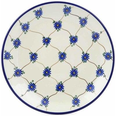Polish Pottery 10-inch Plate   Boleslawiec Stoneware   Polmedia H4213A