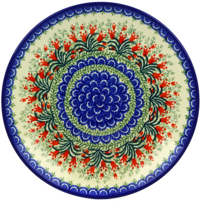 Polish Pottery 10-inch Plate   Boleslawiec Stoneware   Polmedia H3361E