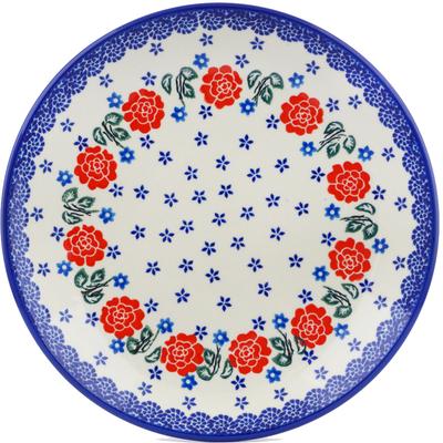 Polish Pottery 10-inch Plate   Boleslawiec Stoneware   Polmedia H5248I