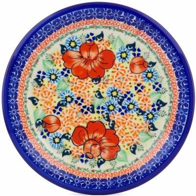 Polish Pottery 10-inch Plate   Boleslawiec Stoneware   Polmedia H1267J