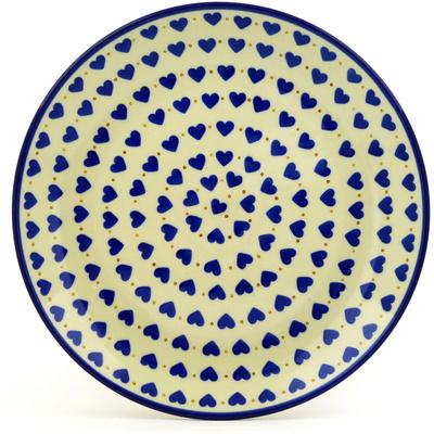 Polish Pottery 10-inch Plate   Boleslawiec Stoneware   Polmedia H4878D