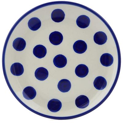 Polish Pottery 6-inch Plate   Boleslawiec Stoneware   Polmedia H1651B