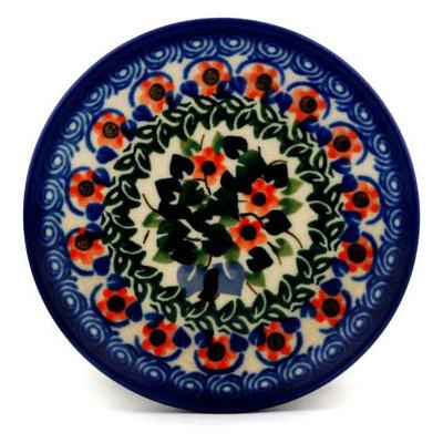 Polish Pottery 4-inch Plate | Boleslawiec Stoneware | Polmedia H4674A