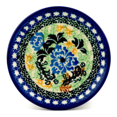 Polish Pottery 4-inch Plate | Boleslawiec Stoneware | Polmedia H0624C