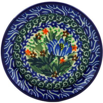 Polish Pottery 4-inch Plate | Boleslawiec Stoneware | Polmedia H0689E