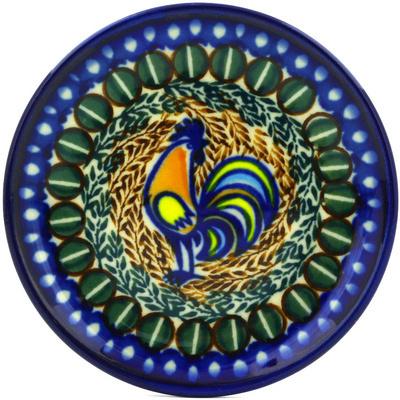 Polish Pottery 4-inch Plate | Boleslawiec Stoneware | Polmedia H0688E