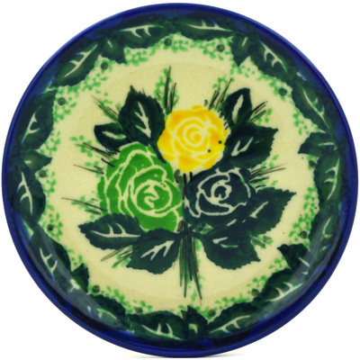 Polish Pottery 4-inch Plate | Boleslawiec Stoneware | Polmedia H0687E