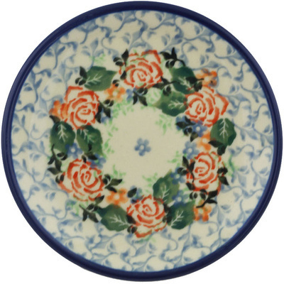 Polish Pottery 4-inch Plate | Boleslawiec Stoneware | Polmedia H8430G