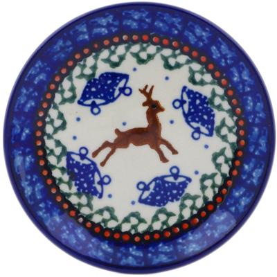 Polish Pottery 4-inch Plate   Boleslawiec Stoneware   Polmedia H1333C