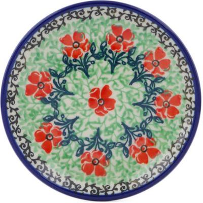 Polish Pottery 4-inch Plate   Boleslawiec Stoneware   Polmedia H0080J