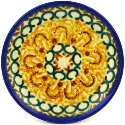 Polish Pottery 4-inch Plate   Boleslawiec Stoneware   Polmedia H2372D