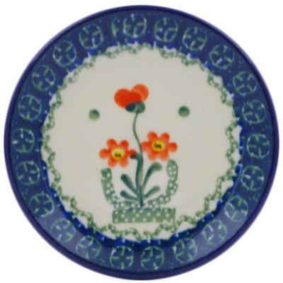 Polish Pottery 4-inch Plate | Boleslawiec Stoneware | Polmedia H0074J