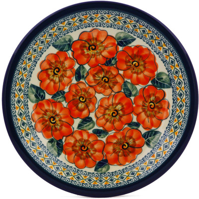 Polish Pottery 9-inch Plate | Boleslawiec Stoneware | Polmedia H0029A