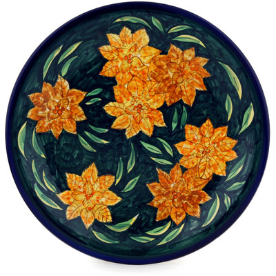 Polish Pottery 11-inch Plate   Boleslawiec Stoneware   Polmedia H0515D