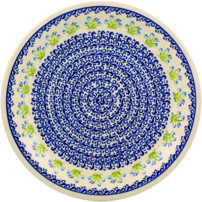 Polish Pottery 11-inch Plate | Boleslawiec Stoneware | Polmedia H5899I