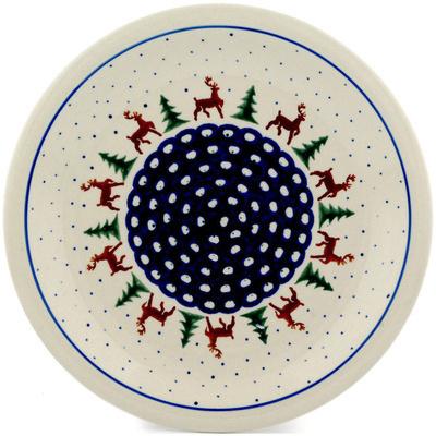 Polish Pottery 11-inch Plate   Boleslawiec Stoneware   Polmedia H0332D