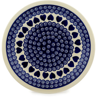 Polish Pottery 11-inch Plate   Boleslawiec Stoneware   Polmedia H9519C