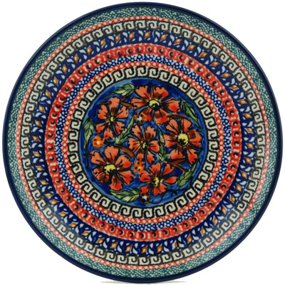 Polish Pottery 7-inch Plate   Boleslawiec Stoneware   Polmedia H0060C