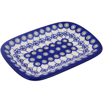 Polish Pottery 10-inch Platter   Boleslawiec Stoneware   Polmedia H7859G