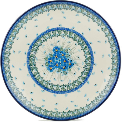 Polish Pottery 14-inch Platter | Boleslawiec Stoneware | Polmedia H0724I