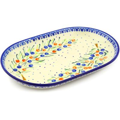 Polish Pottery 13-inch Platter | Boleslawiec Stoneware | Polmedia H1984G