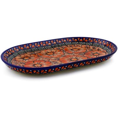Polish Pottery 9-inch Platter   Boleslawiec Stoneware   Polmedia H4918F