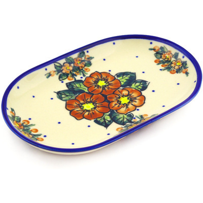 Polish Pottery 9-inch Platter | Boleslawiec Stoneware | Polmedia H2087G