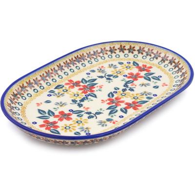 Polish Pottery 9-inch Platter | Boleslawiec Stoneware | Polmedia H2264J