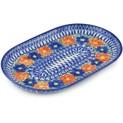 Polish Pottery 9-inch Platter | Boleslawiec Stoneware | Polmedia H0543H