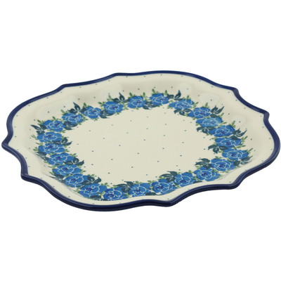 Polish Pottery 10-inch Platter | Boleslawiec Stoneware | Polmedia H1720I