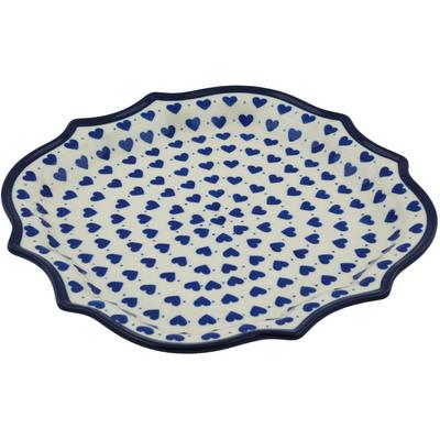 Polish Pottery 10-inch Platter | Boleslawiec Stoneware | Polmedia H1750I