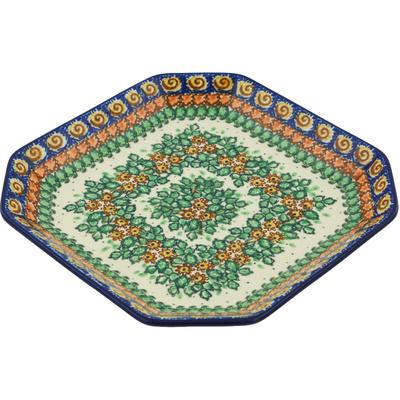 Polish Pottery 8-inch Platter | Boleslawiec Stoneware | Polmedia H8938G