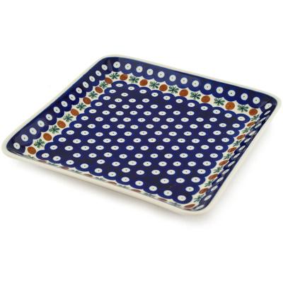 Polish Pottery 8-inch Platter | Boleslawiec Stoneware | Polmedia H6942C