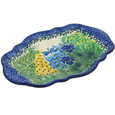 Polish Pottery 9-inch Platter | Boleslawiec Stoneware | Polmedia H8412F