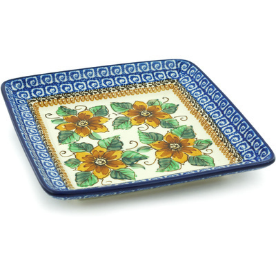 Polish Pottery 8-inch Platter | Boleslawiec Stoneware | Polmedia H4795H
