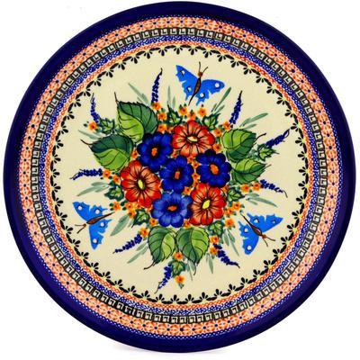 Polish Pottery 13-inch Platter | Boleslawiec Stoneware | Polmedia H0415D