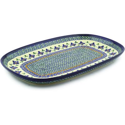 Polish Pottery 15-inch Platter | Boleslawiec Stoneware | Polmedia H0421F