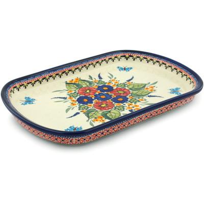 Polish Pottery 13-inch Platter | Boleslawiec Stoneware | Polmedia H2815I