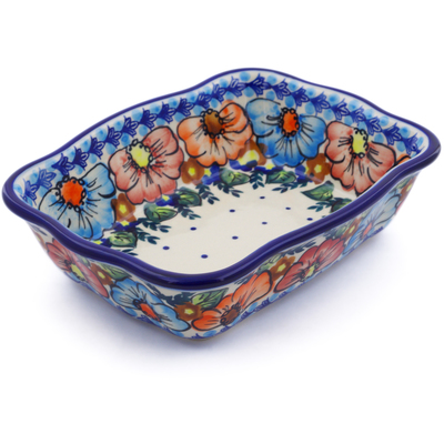 Polish Pottery 8-inch Rectangular Baker | Boleslawiec Stoneware | Polmedia H0615H