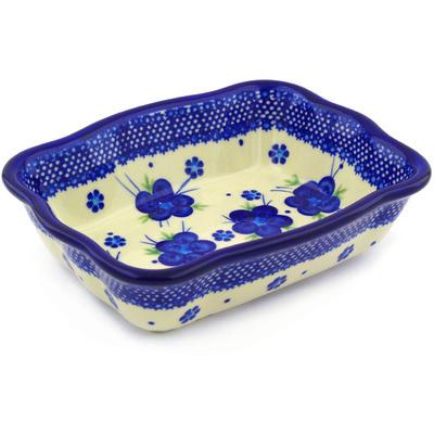 Polish Pottery 8-inch Rectangular Baker | Boleslawiec Stoneware | Polmedia H2332F