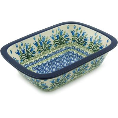 Polish Pottery 10-inch Rectangular Baker | Boleslawiec Stoneware | Polmedia H5287I
