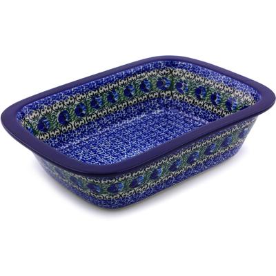 Polish Pottery 10-inch Rectangular Baker | Boleslawiec Stoneware | Polmedia H6744I