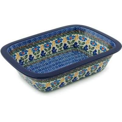 Polish Pottery 10-inch Rectangular Baker | Boleslawiec Stoneware | Polmedia H4993I