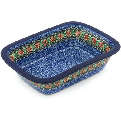 Polish Pottery 10-inch Rectangular Baker | Boleslawiec Stoneware | Polmedia H9232G