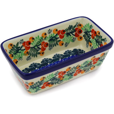 Polish Pottery 6-inch Rectangular Baker | Boleslawiec Stoneware | Polmedia H2346E