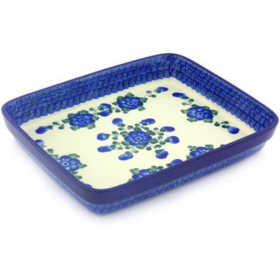Polish Pottery 11-inch Rectangular Baker | Boleslawiec Stoneware | Polmedia H5673G